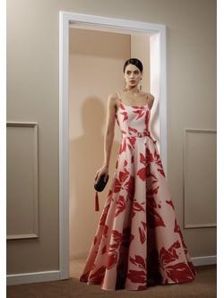 Vestido Floral Artsy Rose Com Pink - Patricia Rios