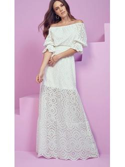 Vestido Laise Branco - Patricia Rios