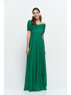 Vestido Crepe Verde - Patricia Rios