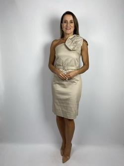 Vestido Um Ombro SÓ Bege - Patricia Rios