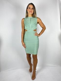 Vestido Curto Bandagem Verde - Patricia Rios