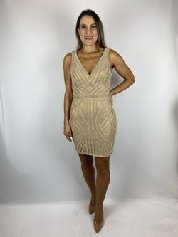 Vestido Curto Boradado Nude - Patricia Rios