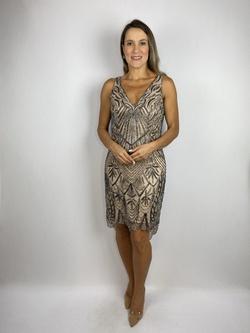 Vestido Curto Shine Nude - Patricia Rios