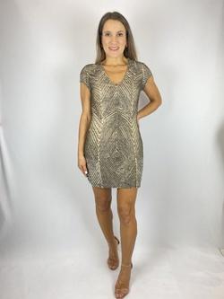 Vestido Larguinho Bordado Bege - Patricia Rios