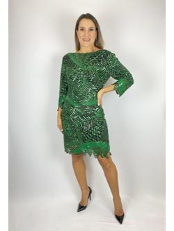 Vestido Decote Nas Costas Verde - Patricia Rios