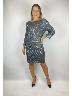 Vestido Curto Decote Nas Costas Jumbo - Patricia Rios