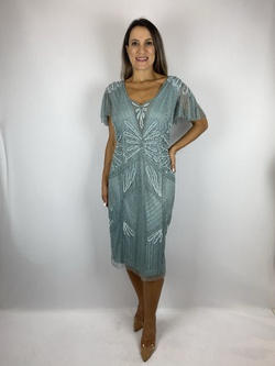 Vestido Curto Bordado Celesti Azul Serenity - Patricia Rios