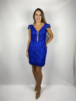 Vestido Guiper Azul Royal - Patricia Rios