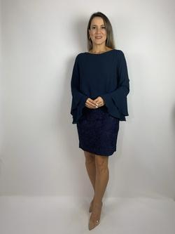 Vestido Blusado Azul Marinho - Patricia Rios