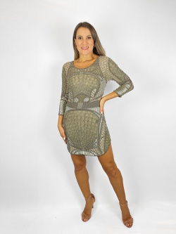 Vestido com Fenda Fendi - Patricia Rios