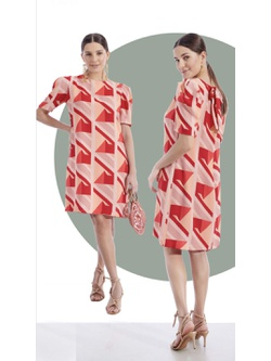 Vestido Estampado Multicor - Patricia Rios
