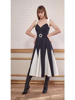 Vestido P&b Midi - Patricia Rios