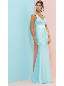 Vestido Premium Guiper Azul Bebe - Patricia Rios