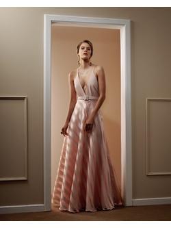 Vestido Organza Rosa - Patricia Rios