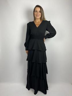 Vestido Camadas Preto - Patricia Rios