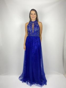 Vestido Frente Única Longo Azul Royal - Patricia Rios