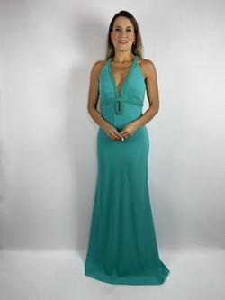 Vestido com Decote Gota Turquesa - Patricia Rios