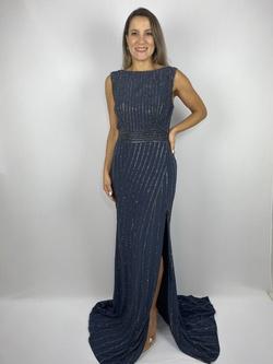 Vestido Decote Azul - Patricia Rios