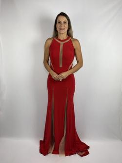 Vestido Recortes Vermelho - Patricia Rios