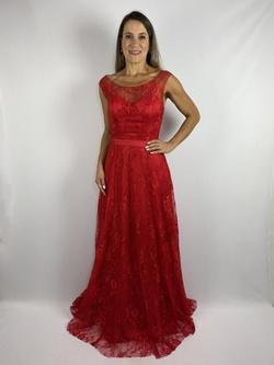 Vestido Rendado Vermelho - Patricia Rios