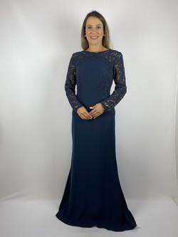 Vestido Aplicação em Renda Marinho - Patricia Rios