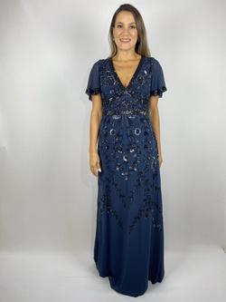 Vestido Longo Bordado Manga Curta - Patricia Rios