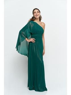 Vestigo Chiffon Manga Plisse Verde Agua - Patricia Rios