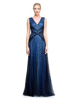 Vestido Evase Azul - Patricia Rios