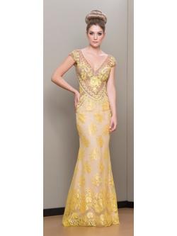 Vestido Justo Renda Amarelo - Patricia Rios