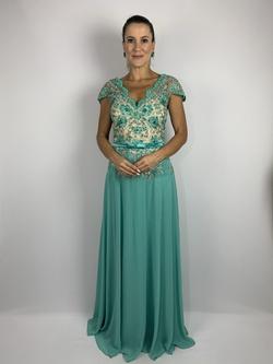 Vestido Princess Beltnot Acqua - Patricia Rios