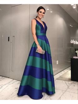 Vestido Zibeline Bicolor - Patricia Rios