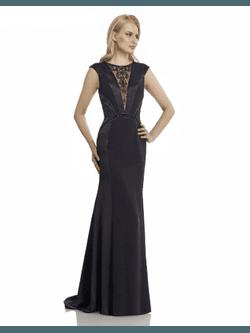 Vestido com Bordado Preto - Patricia Rios