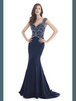 Vestido Bordado Parte de Cima Azul - Patricia Rios