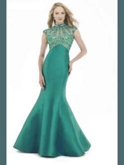 Vestido Zibeline Gola Verde - Patricia Rios