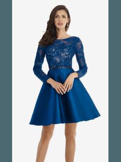 Vestido Curto Little Princess Azul - Patricia Rios