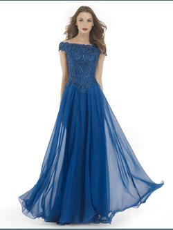 Vestido Ombro a Ombro Azul - Patricia Rios