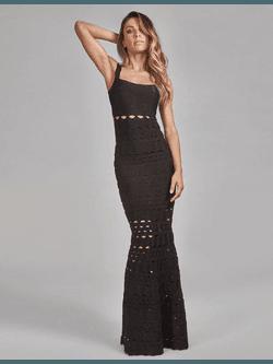 Vestido de Bandagem Preto - Patricia Rios