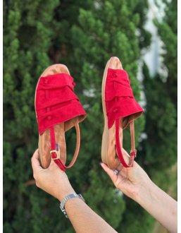 Rasteirinha Confortável cor Vermelha - Universo Bubblē