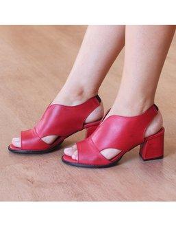 Sandália Salto Grosso Vermelha - Universo Bubblē