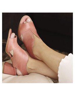 Sandalia Salto Grosso Medio Rosa Bebê - Universo Bubblē