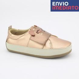 Tênis Velcro Infantil Feminino Daniela - Metalizado Cobre - Blue Infantis