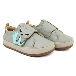 Tênis Velcro Infantil Feminino Joice - Perolado Verde - Blue Infantis