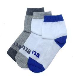 Kit c/ 3 Pares de Meias Infantis Soquete Blue Infantis Meninos - Blue Infantis