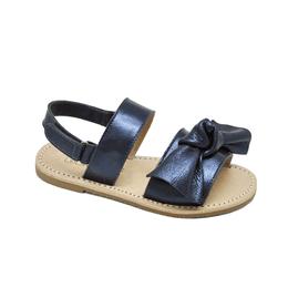 Sandália Infantil Feminino Ayla - Metalizado Azul - Blue Infantis