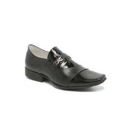 Sapato Social Masculino - ED80001 Couro Verniz Preto - CALÇADOS ALCALAY