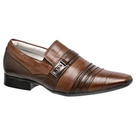 Sapato Social Masculino - F6957 Pinhão - CALÇADOS ALCALAY
