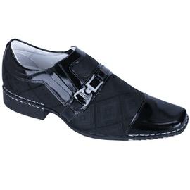 Sapato Social Masculino - ED80007 Verniz Preto - CALÇADOS ALCALAY