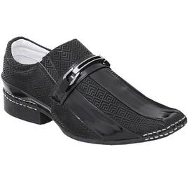 Sapato Social Masculino - ED80006 Verniz Preto - CALÇADOS ALCALAY