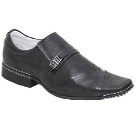 Sapato Social Masculino - ED80008 Verniz Preto/Nobuck - CALÇADOS ALCALAY
