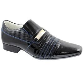 Sapato Social Masculino - F160339 Preto Verniz - CALÇADOS ALCALAY